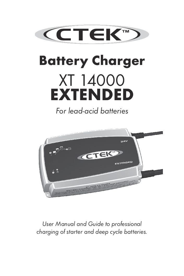 XT_14000_EXTENDED-manual-UK-EN | CTEK Battery Chargers